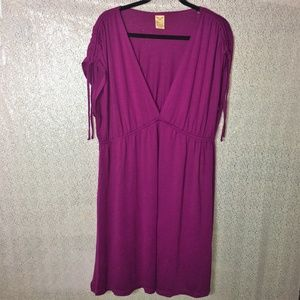 NWOT Faded Glory Short Mulberry Maxi Dress